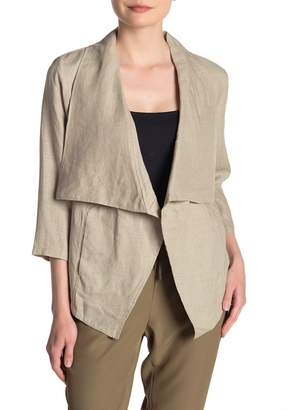 DKNY Draped Linen Jacket