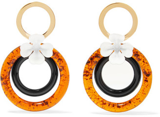 Gold-plated, Enamel And Resin Earrings