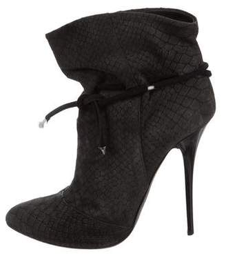 Giuseppe Zanotti Embossed Ankle Boots