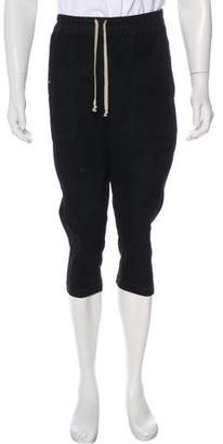 Rick Owens Elastic Waist Cropped Cargo Joggers