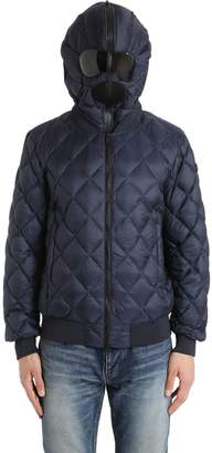 AI Riders On The Storm Quilted Micro Ripstop Down Bomber Jacket