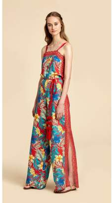 Miguelina Electra Jumpsuit - Limited-Edition Tropical Print