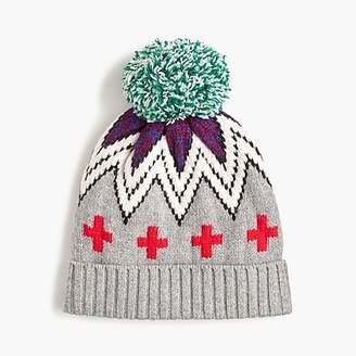 J.Crew Patchwork Fair Isle knit hat