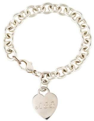 Tiffany & Co. Engraved Heart Tag Bracelet