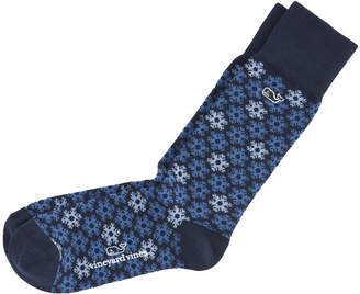 Vineyard Vines Snowflakes Icon Socks