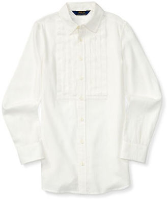 Ralph Lauren Childrenswear Girls 2-6x Toddler's, Little Girl's & Cotton Long Sleeve Shirt0500045049764 $45 thestylecure.com