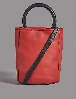 Marks and Spencer Leather Bucket Cross Body Bag