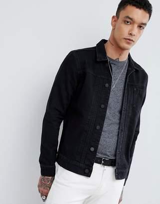 AllSaints Denim Jacket In Black