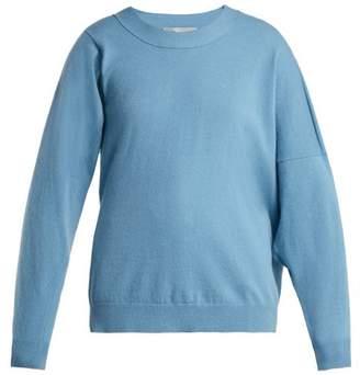 Stella McCartney Asymmetric Wool Blend Sweater - Womens - Blue