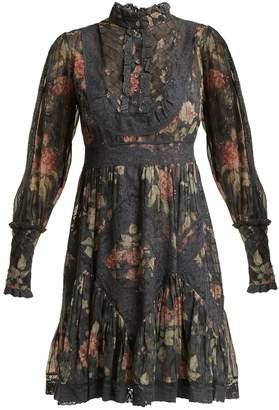 Zimmermann Unbridled floral-print silk dress