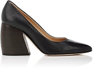 Helmut Lang Women's Bombe Leather Pumps $595 thestylecure.com