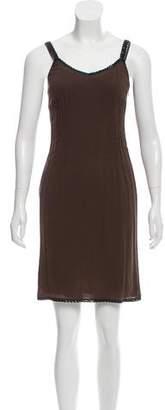 Miu Miu Embellished Knee-Length Dress