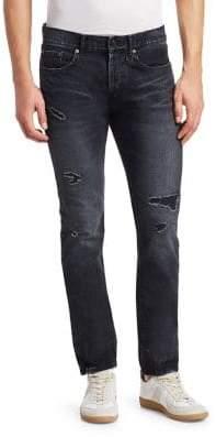 Saint Laurent Rip& Repair Slim-Fit Jeans