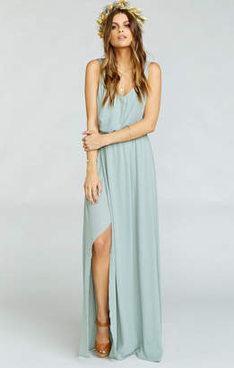 Show Me Your Mumu Kendall Maxi Dress ~ Silver Sage Crisp