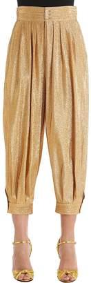Gucci Lurex & Silk Blend Crepe Balloon Pants