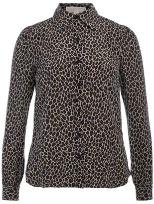Michael Kors Black And Brown Spotted Shirt