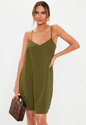 Missguided Khaki Cami Shift Dress