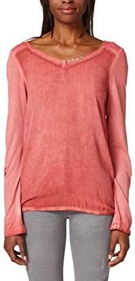 Esprit Women's 018ee1k027 Long Sleeve Top, (Light Grey 4 043)