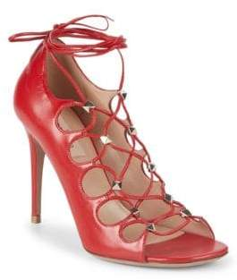 Valentino Studded Leather Strappy Sandals