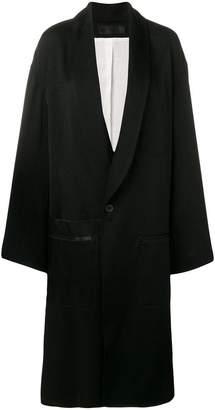 Haider Ackermann long single-breasted coat