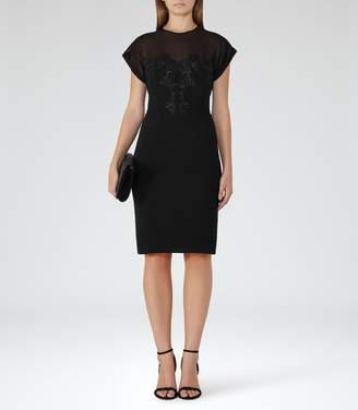 Reiss Dilone Embroidered Dress