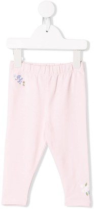 Ralph Lauren Kids floral embroidered trousers