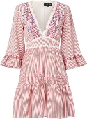 Saloni June V-Neck Mini Dress $495 thestylecure.com