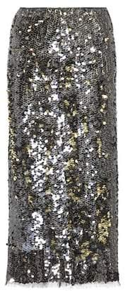 Rejina Pyo Sequinned midi skirt