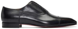 Christian Louboutin Black Grecco Oxfords