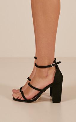 Showpo Billini - Marlie Heels in black micro - 5 Billini