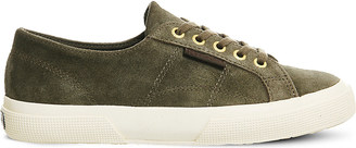 Superga 2750 lace-up suede trainers $63 thestylecure.com