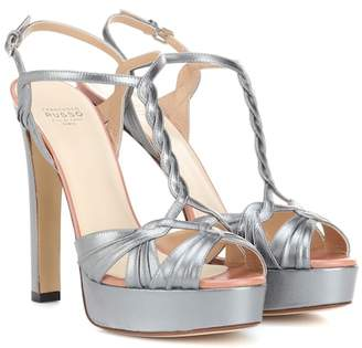Francesco Russo Leather platform sandals