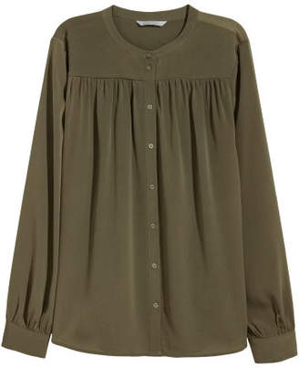 H&M Long-sleeved Blouse - Green