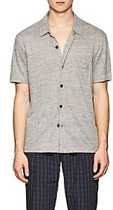 Theory Men's Slub Linen Jersey Shirt - Gray