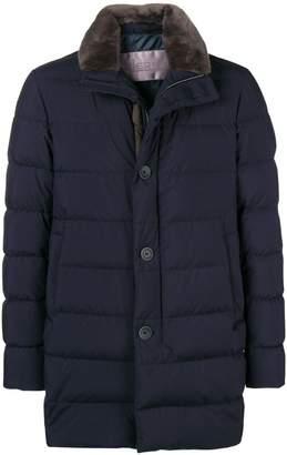 Herno fur collar duffle coat