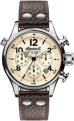 Ingersoll Chronograph Leather Strap Watch, 46mm