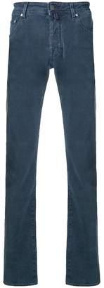 Jacob Cohen handkerchief pinstripe jeans