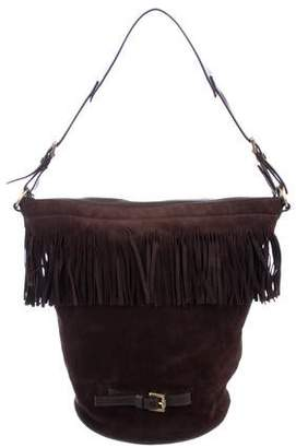 Burberry Fringe Suede Bucket Bag