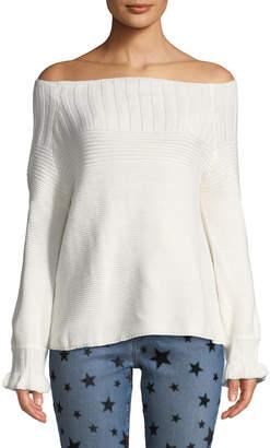Few Moda Off-the-Shoulder Ruffle Sweater