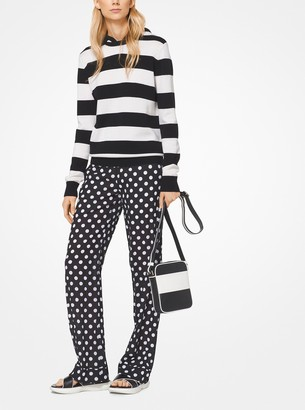 Michael Kors Coin Dot Crushed Georgette Pajama Pants