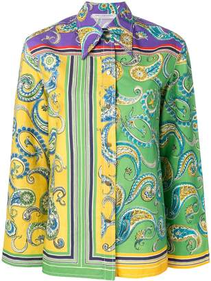Philosophy di Lorenzo Serafini paisley cotton shirt