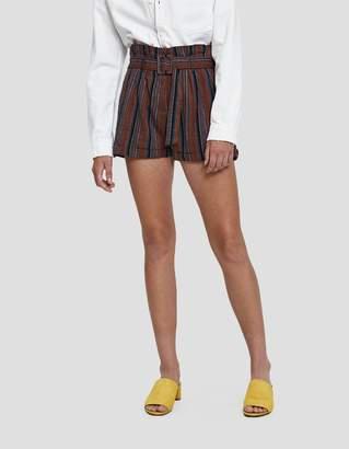 Farrow Jazlyn Striped Linen Shorts