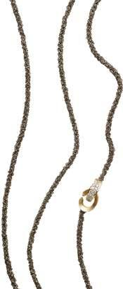 Antonini 18K Yellow Gold Matera Chain and Cognac Diamond Necklace, 42