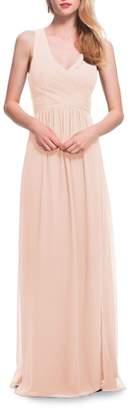 #Levkoff Back Cutout Chiffon Gown