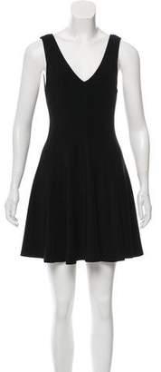 Alice + Olivia Knit Flared Mini Dress
