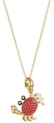 Kate Spade Pave Crab Pendant Necklace