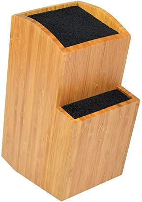 Universal Knife Block - Extra Large Two-tiered Slotless Wooden Knife Stand