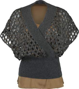Brunello Cucinelli Lux Net Criss Cross Pullover