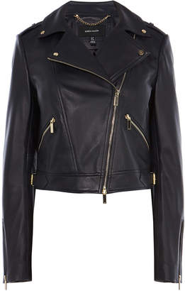 Karen Millen Cropped Leather Jacket