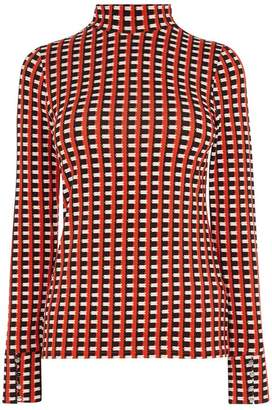 Karen Millen Statement Check Top